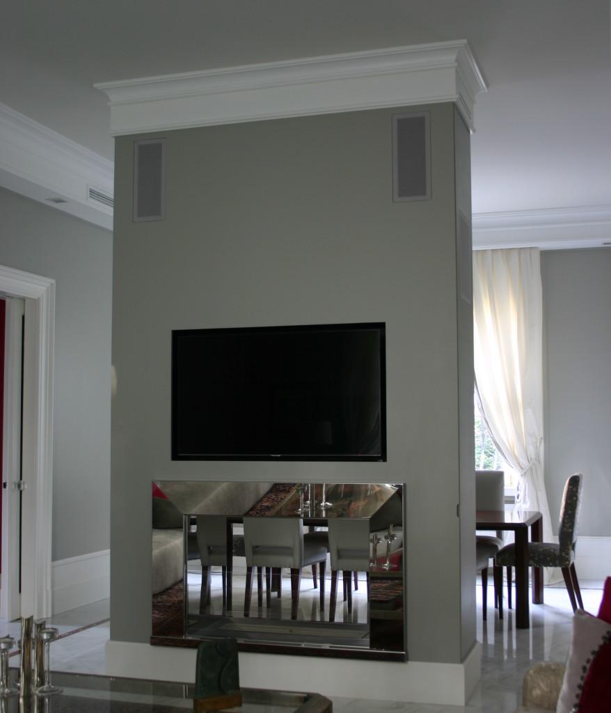 Il caldo fascino del biocamino gr design - Specchio con tv ...